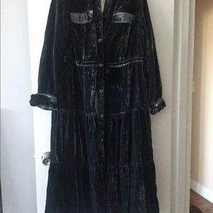 Maxi,velvet dress/coat by Free People